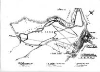Map of the footpaths across Lelant Water in 1828, just after the Causeway was opened (1825)
